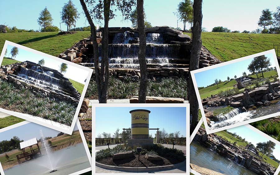 Manmade water fountains