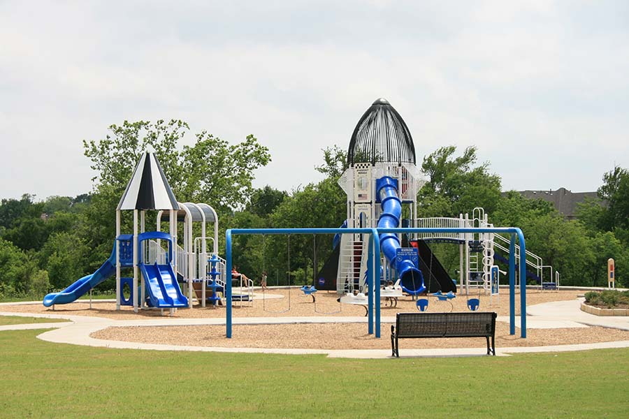 play structures on a playground
